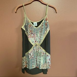 SW3 Beapoke Tisdale patchwork tank top high low